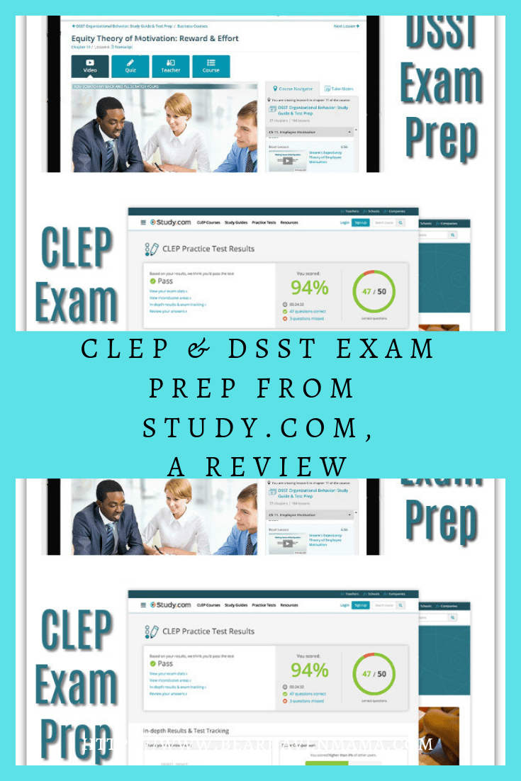 CLEP & DSST Exam Prep from Study Com, A Review