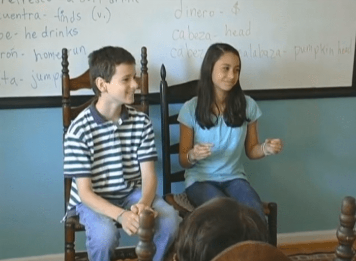 With Excelerate Spanish, homeschool students learn Spanish vocabulary in context with a story and questions. It is a self-paced video series, and you can learn Spanish fast without anxiety.