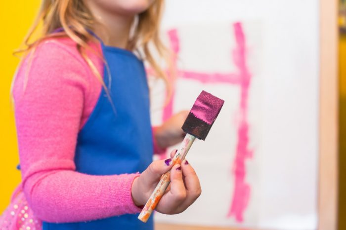 family fun night idea: painting