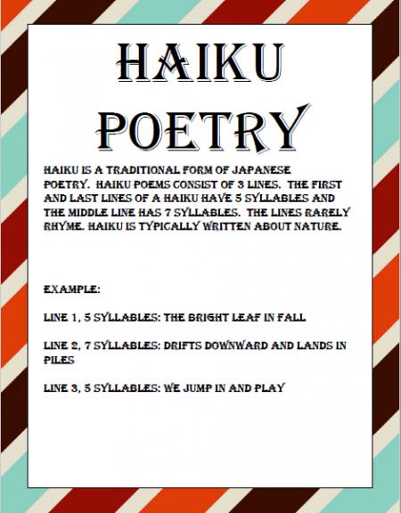 autumn homeschool poetry unit