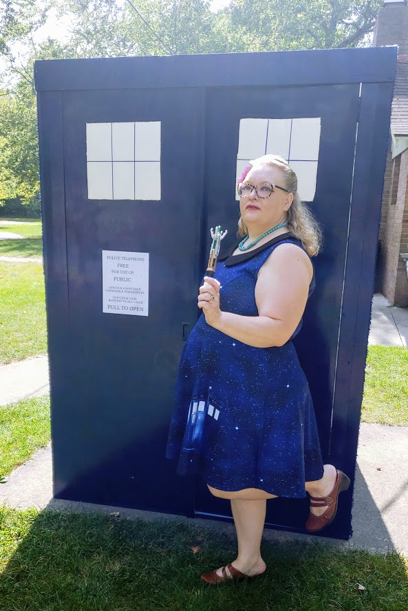 HANDMADE TARDIS for a Doctor Who party