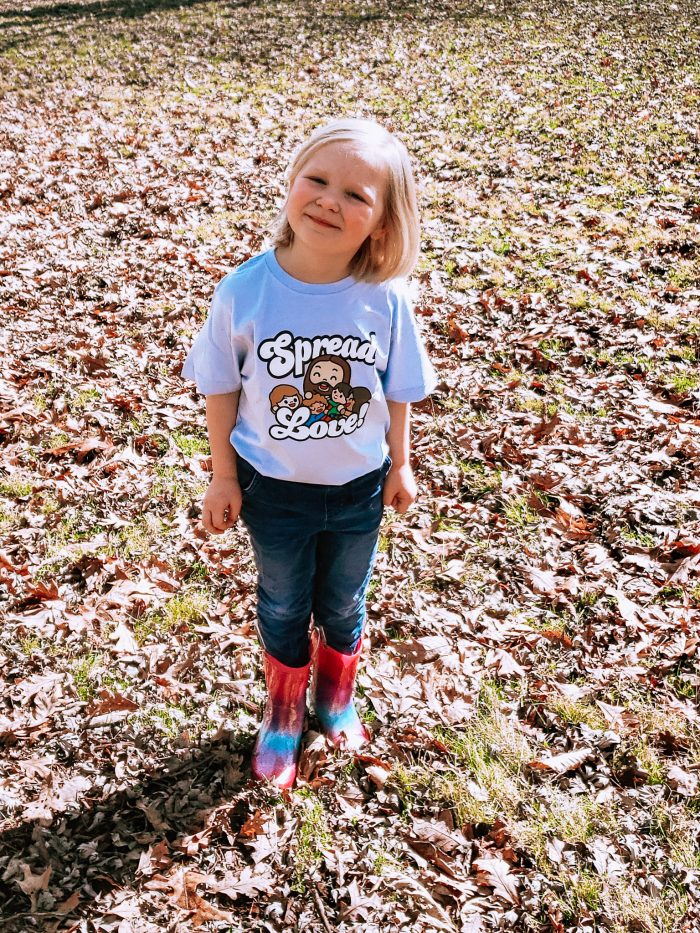 Bible's bb's is for families who want to celebrate their faith in a fresh new way. They have a line of shirts for the whole family and books for kids featuring their cute little Bible Hero cartoon figures!