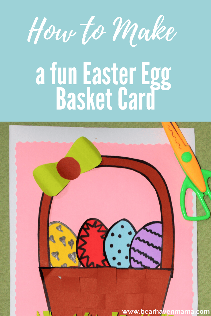 Make this fun Easter Egg Basket Card Craft for Kids. Something fun to do to celebrate Easter!