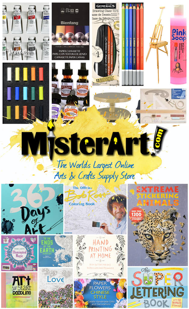 MisterArt.comhas maintained its status as the world's largest online source for discount arts and crafts supplies. Whether you have a diehard painter, sculptor, photographer, scrapbooker, mixed media artist, encaustics guru, student, or artisan of any kind, they offer the materials, solutions, and tools you need at prices you'll love.
