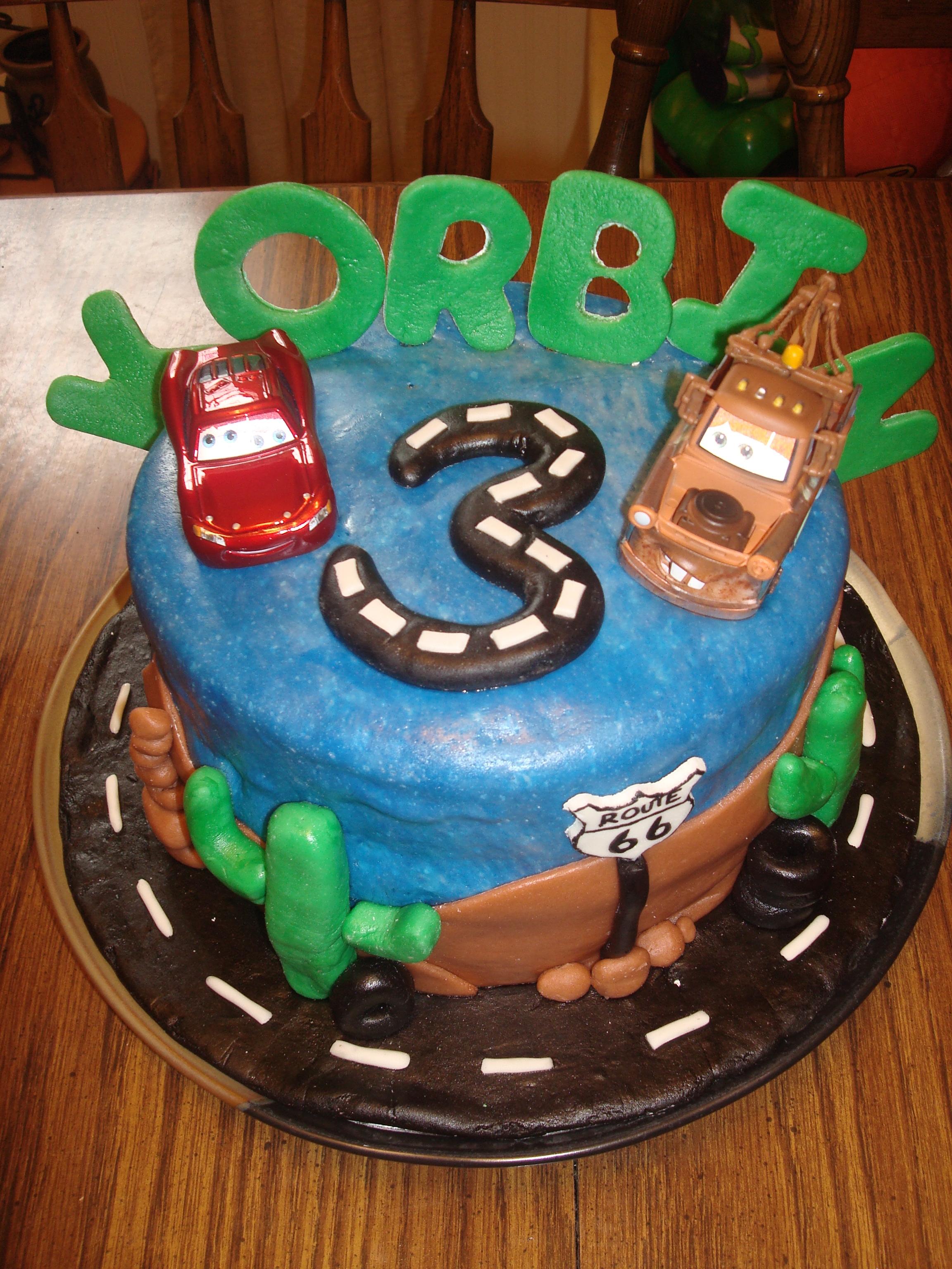 Disney Cars Fondant Birthday Cakes