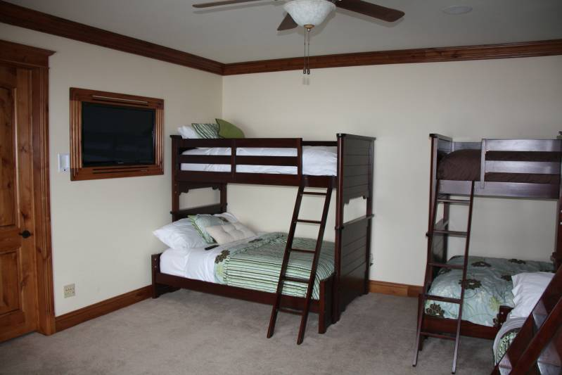 "Suite #2 Bunk room with 42"" built in TV"