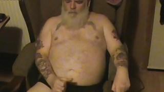 Fat Old Man Wanking