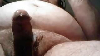 Sexy chubby bear stroking