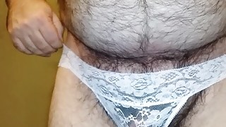 z Me In My White Mesh Lace Flowers Panties –