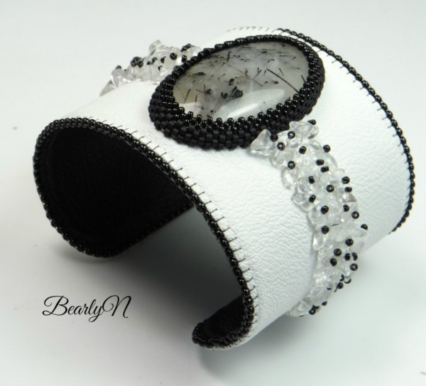 bracelet manchette quartz rutile-BearlyN
