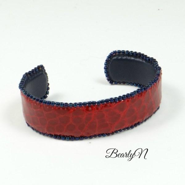 bracelet rouge crocodile_BearlyN