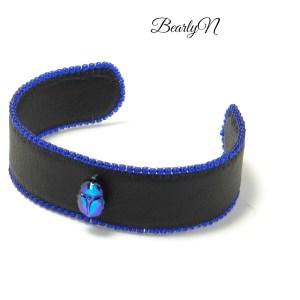 bracelet scarabée bleu_BearlyN