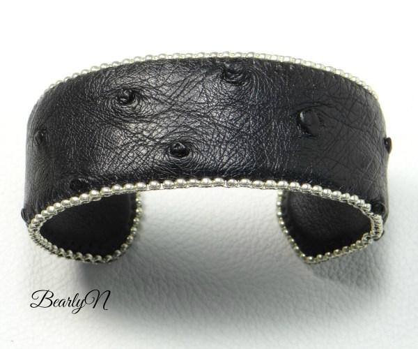 bracelet autruche noire_BearlyN