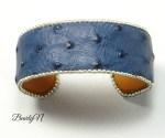 bracelet autruche bleue_BearlyN
