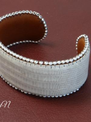 bracelet lézard blanc_BearlyN