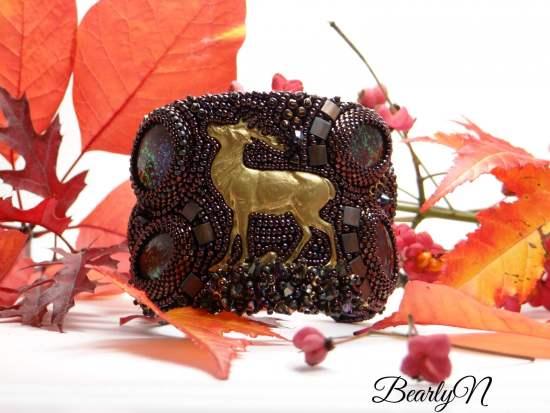 bracelet manchette cerf_BearlyN