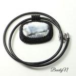 collier pendentif agate dentrite_BearlyN