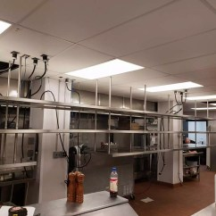 Metal Kitchen Shelf Led Ceiling Lighting 3 Tier Bear Works This Custom Was Fabricated For The New Eckl S Restaurant Going In Larkin Building Downtown