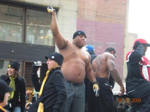 Casey Hampton superbowl parade 05