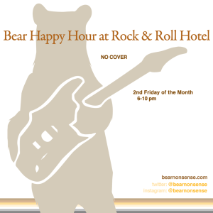 Bear Happy Hour at Rock & Roll Hotel