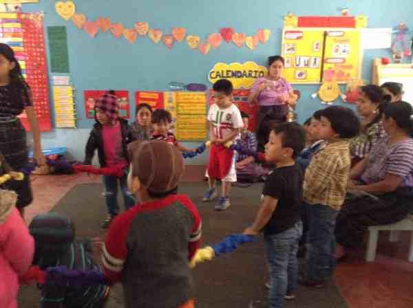 Stretchy Band and La Puerta Abierta preschool in Santiago Atitlán, Guatemala