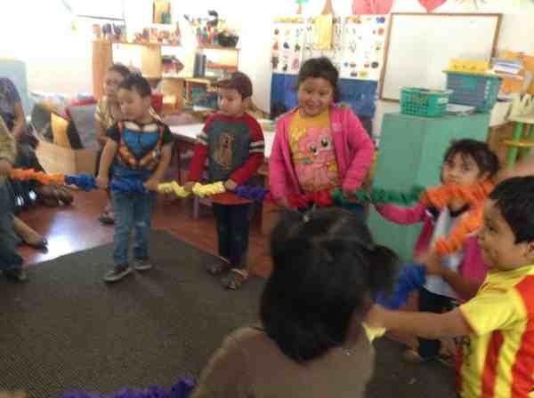 Stretchy Band La Puerta Abierta preschool in Santiago Atitlán, Guatemala  2