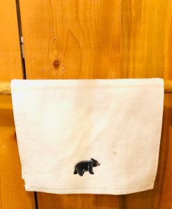 Wood Carved Bear Towel Rack