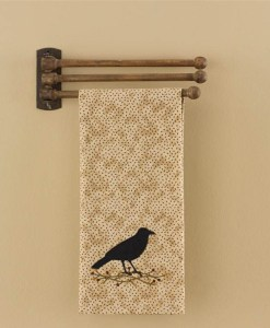 3 Prong Wood Towel Rack