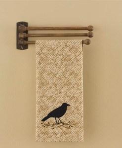 3 Prong Wood Towel Rack