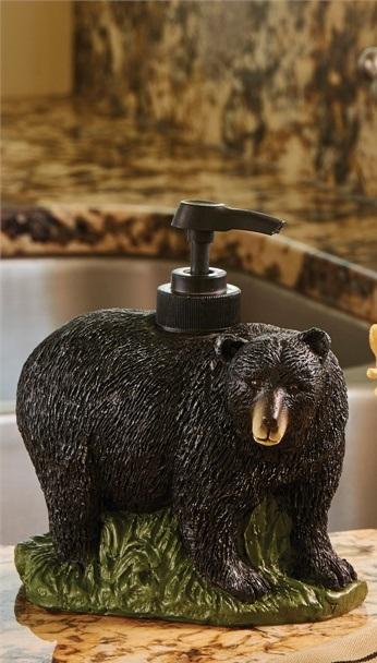Bear Resin Soap Lotion Dispenser