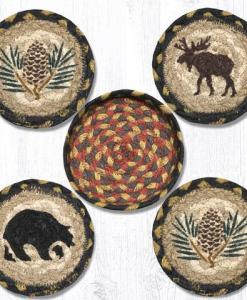 Wilderness Braided Coaster Set with Holder