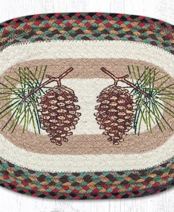 "Oval Pinecone 13"" x 19"" Braided Placemat"