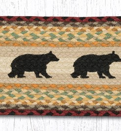 "Cabin Bear 8.25"" x 27"" Braided Stair Tread"