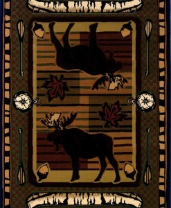 Wilderness Stream Moose Rug Collection