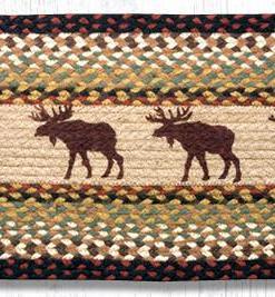 "Moose 13"" x 36"" Braided Runner"
