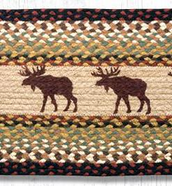 "Moose 13"" x 36"" Braided Runner"