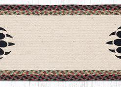 "Bear Paw 13"" x 36"" Braided Runner"