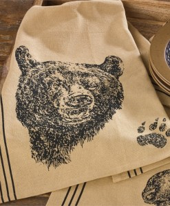 Bear Printed Dishtowel