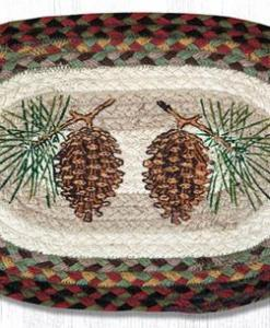 "Pinecone 10"" x 15"" Oval Braided Swatch"