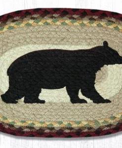 "Cabin Bear 10"" x 15"" Braided Miniature Swatch"