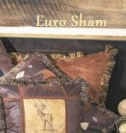 Chestnut Euro Sham with Brush Fringe