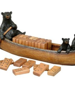 Bear Canoe Domino Set