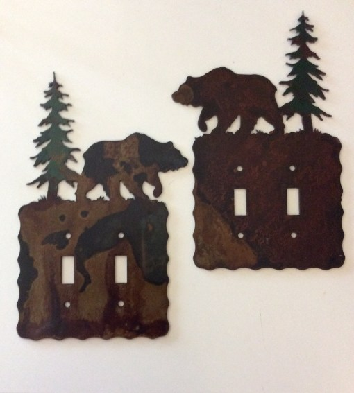 Bear Double Toggle Switch Plate Cover