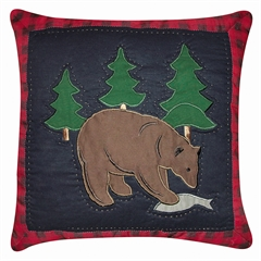 Bear w_ Fish Pillow