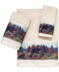 Black Bear Lodge Towel 3 Pc Set