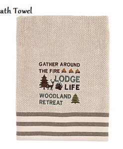 Cabin-words-canvas_Bath Towel