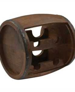 Wood Cask Wine Rack