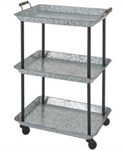Galvanized Utility Cart