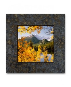 Single Coaster Picture on Slate - Longs Peak