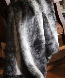 Black Wolf Fur Throw